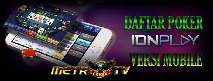 Daftar Agen Poker Uang Asli Versi Mobile